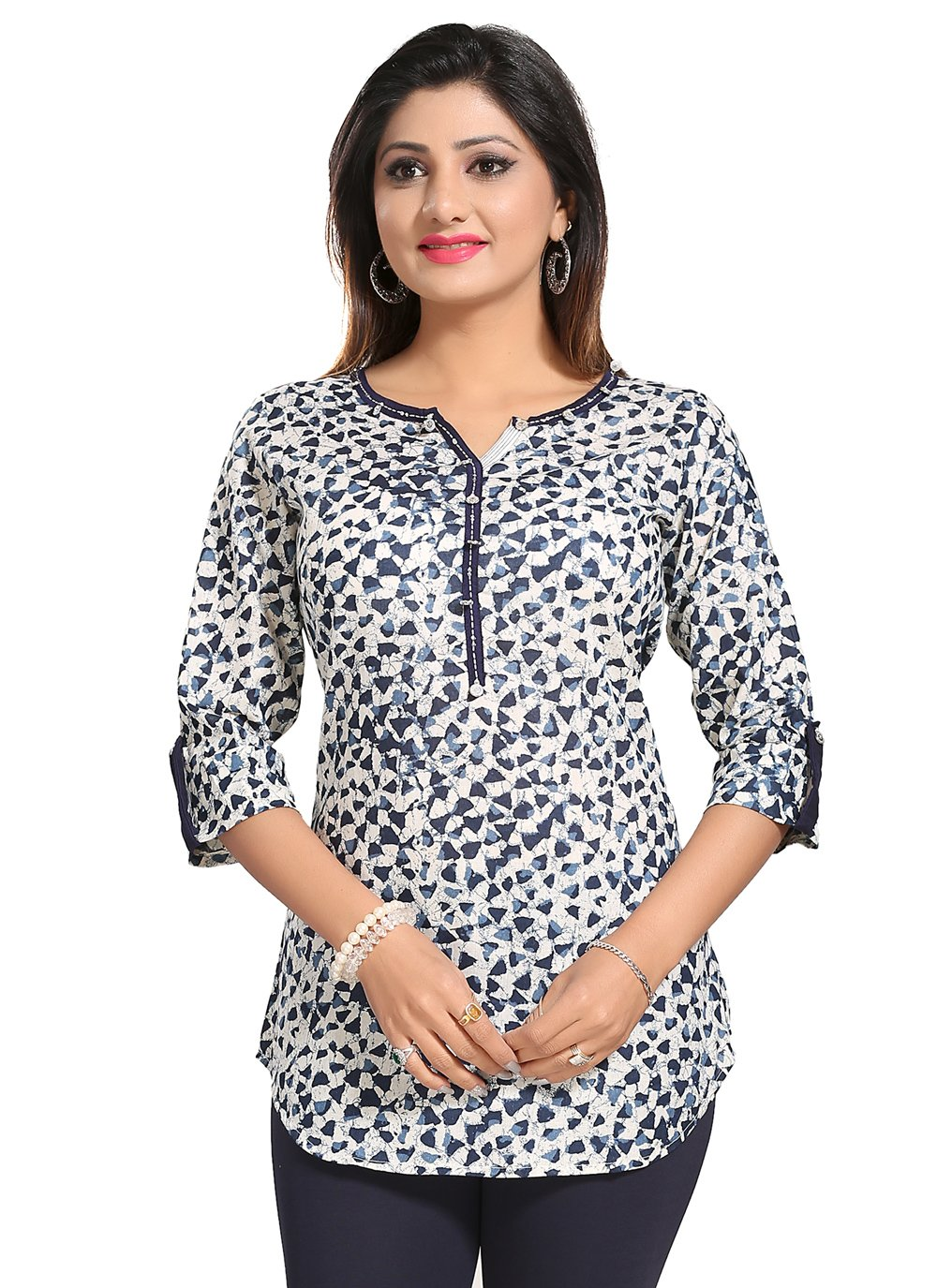 Printed Blended Cotton Casual Kurti