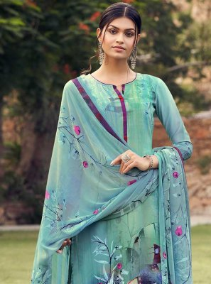 Printed Casual Palazzo Suit