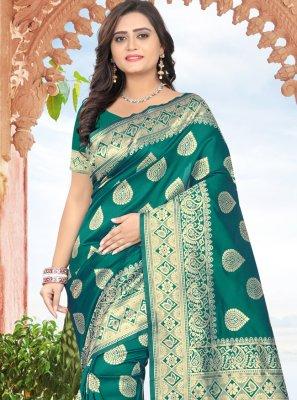 Printed Ceremonial Designer Traditional Saree