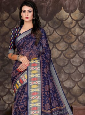 Printed Cotton Designer Saree