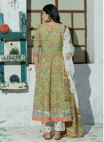 Printed Cotton Green Bollywood Salwar Kameez