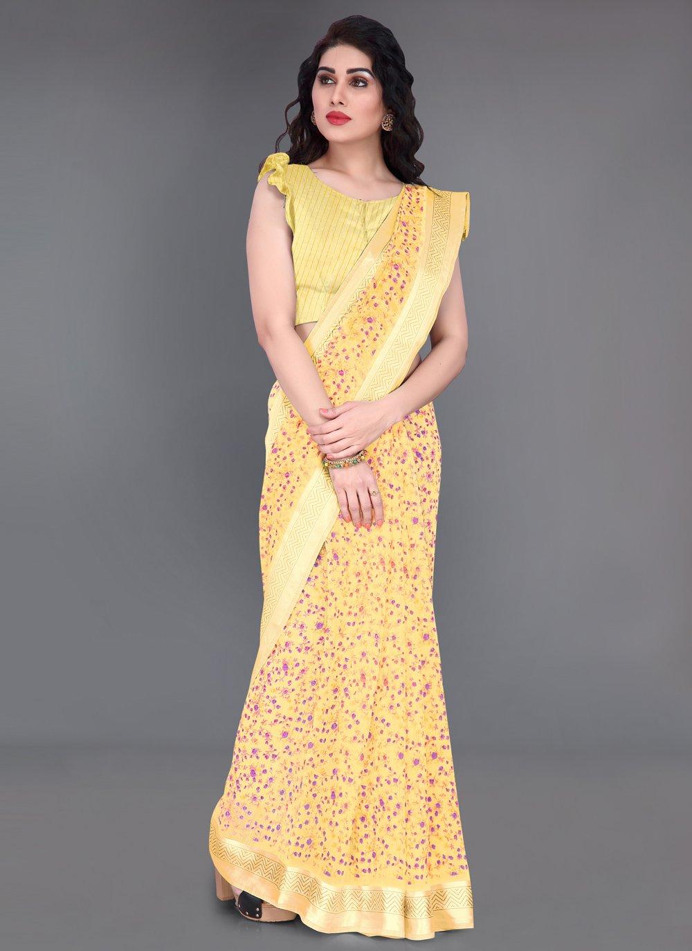 Printed Cotton Printed Saree