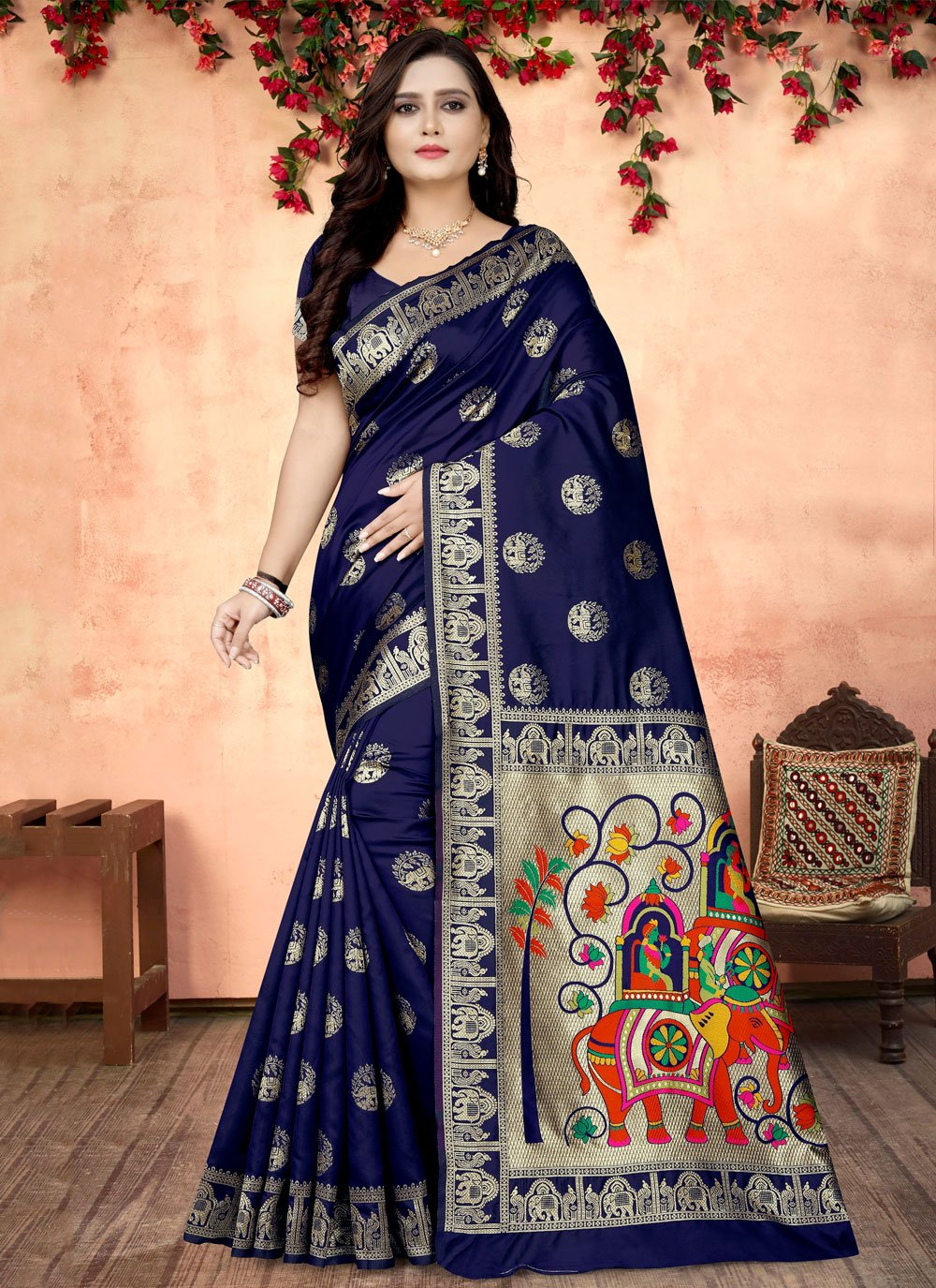 Printed Fancy Fabric Printed Saree