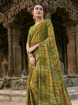 Printed Festival Designer Saree