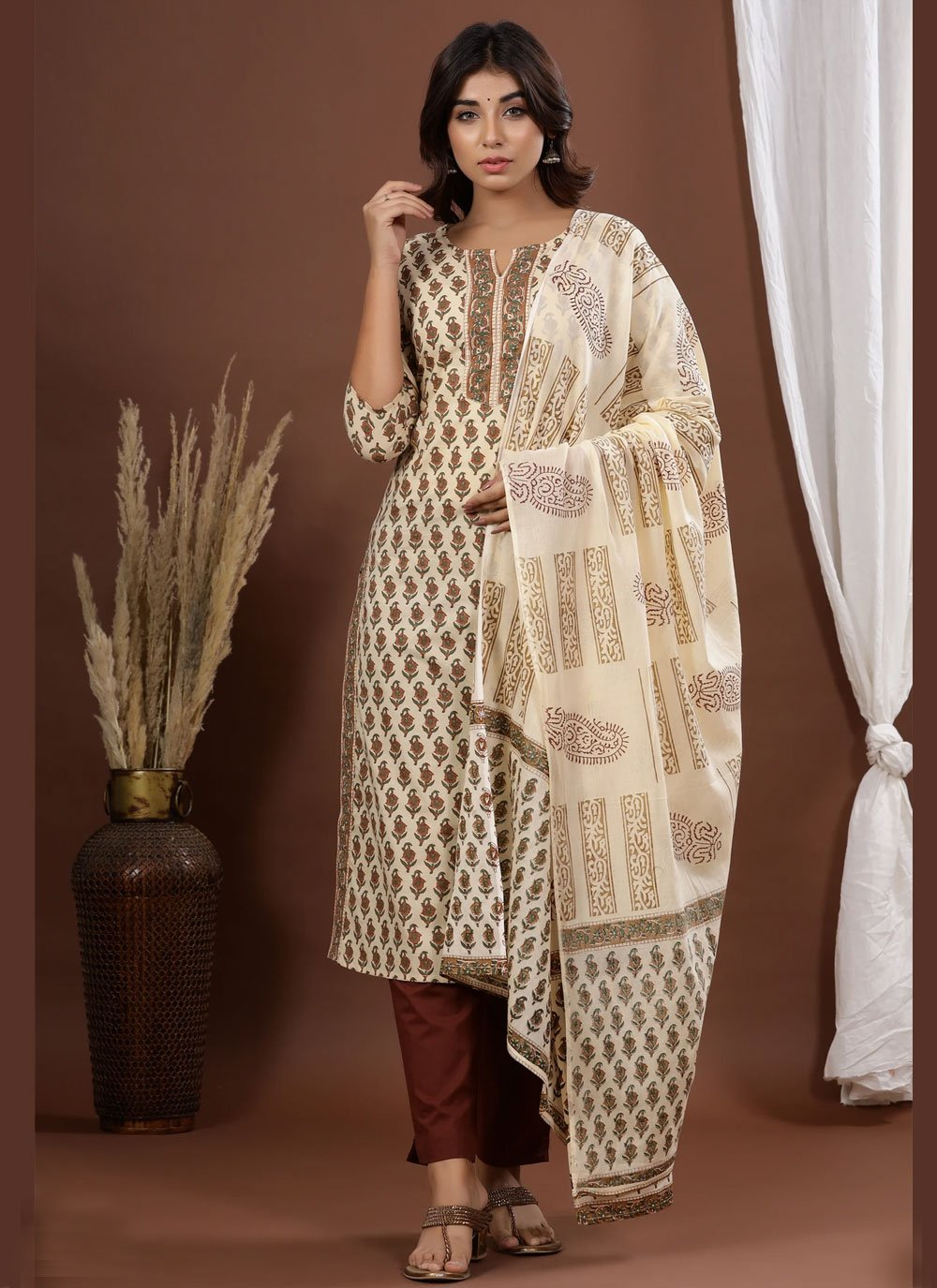 Printed Festival Readymade Suit