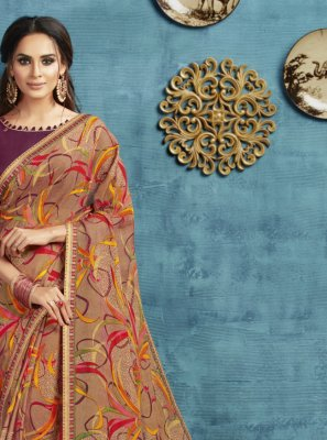 Printed Georgette Designer Saree