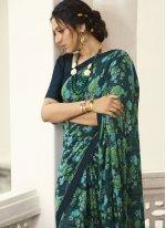 Printed Georgette Multi Colour Contemporary Saree