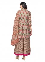 Printed Grey Readymade Suit