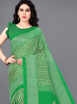 Printed Khadi Silk Traditional Saree