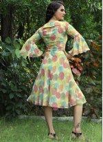 Printed Multi Colour Faux Georgette Designer Kurti