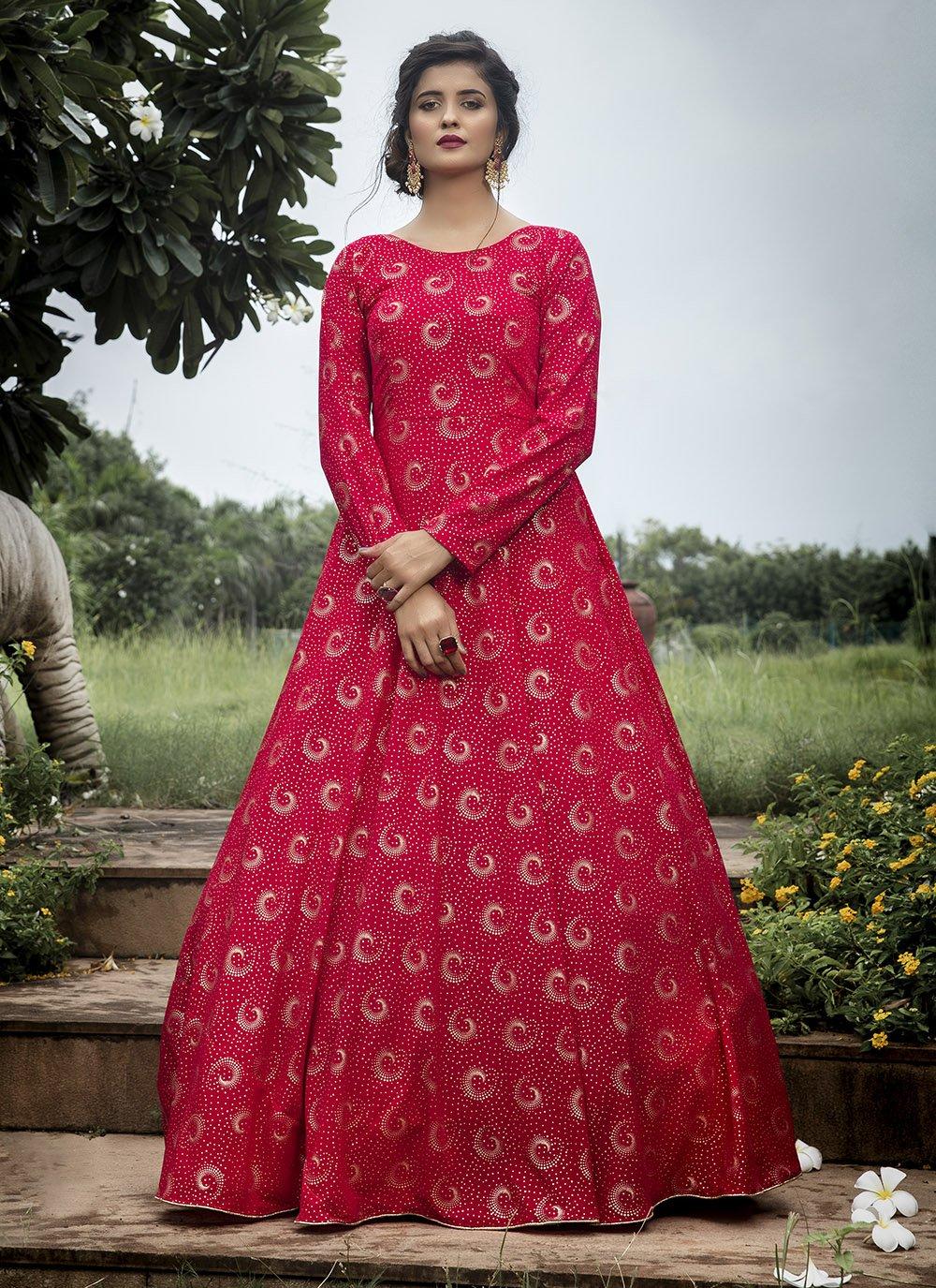 Printed Designer Gown