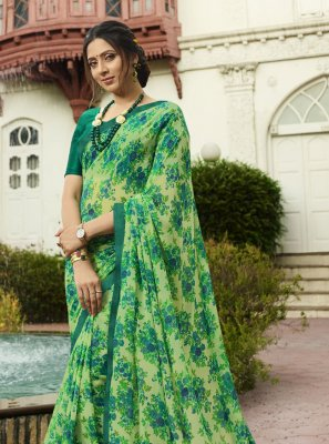 Printed Party Traditional Saree