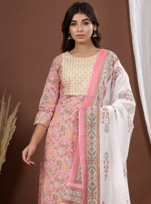 Printed Pink Readymade Suit
