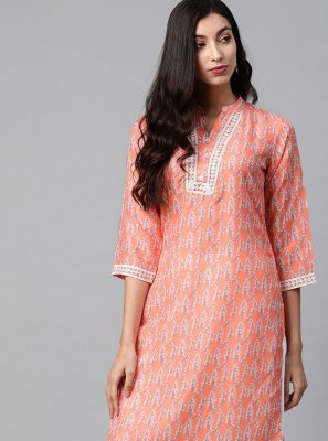 Printed Polyester Party Wear Kurti