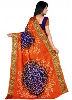 Purple and Rust Traditional Designer Saree