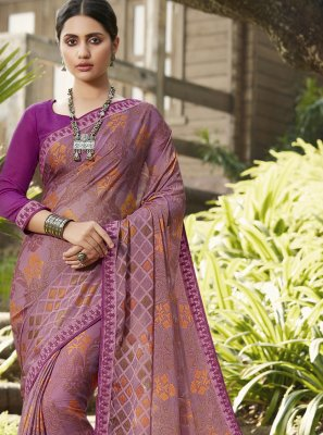 Purple Brasso Ceremonial Classic Saree