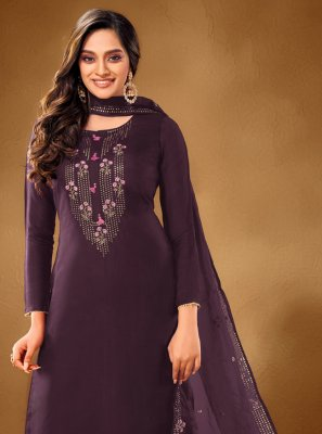 Purple Ceremonial Designer Pakistani Salwar Suit