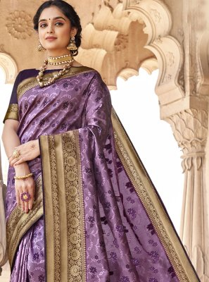 Purple Classic Designer Saree