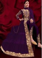 Purple Color Designer Floor Length Salwar Suit