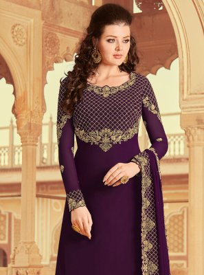 Purple Color Designer Pakistani Suit