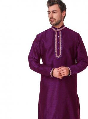 Purple Color Kurta Pyjama