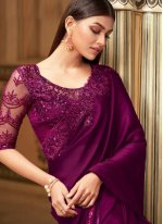 Purple Engagement Designer Saree