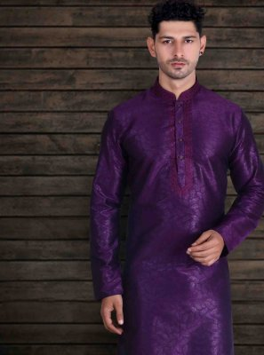 Purple Engagement Kurta Pyjama