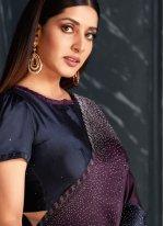Purple Fancy Fabric Designer Traditional Saree