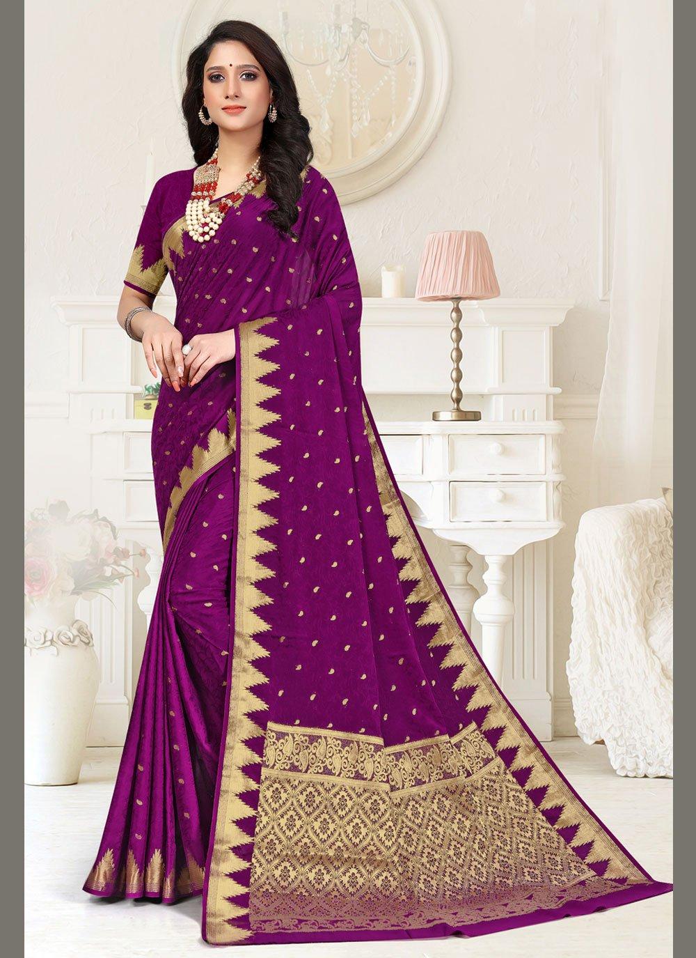 Purple Festival Classic Designer Saree