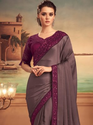 Purple Festival Designer Saree