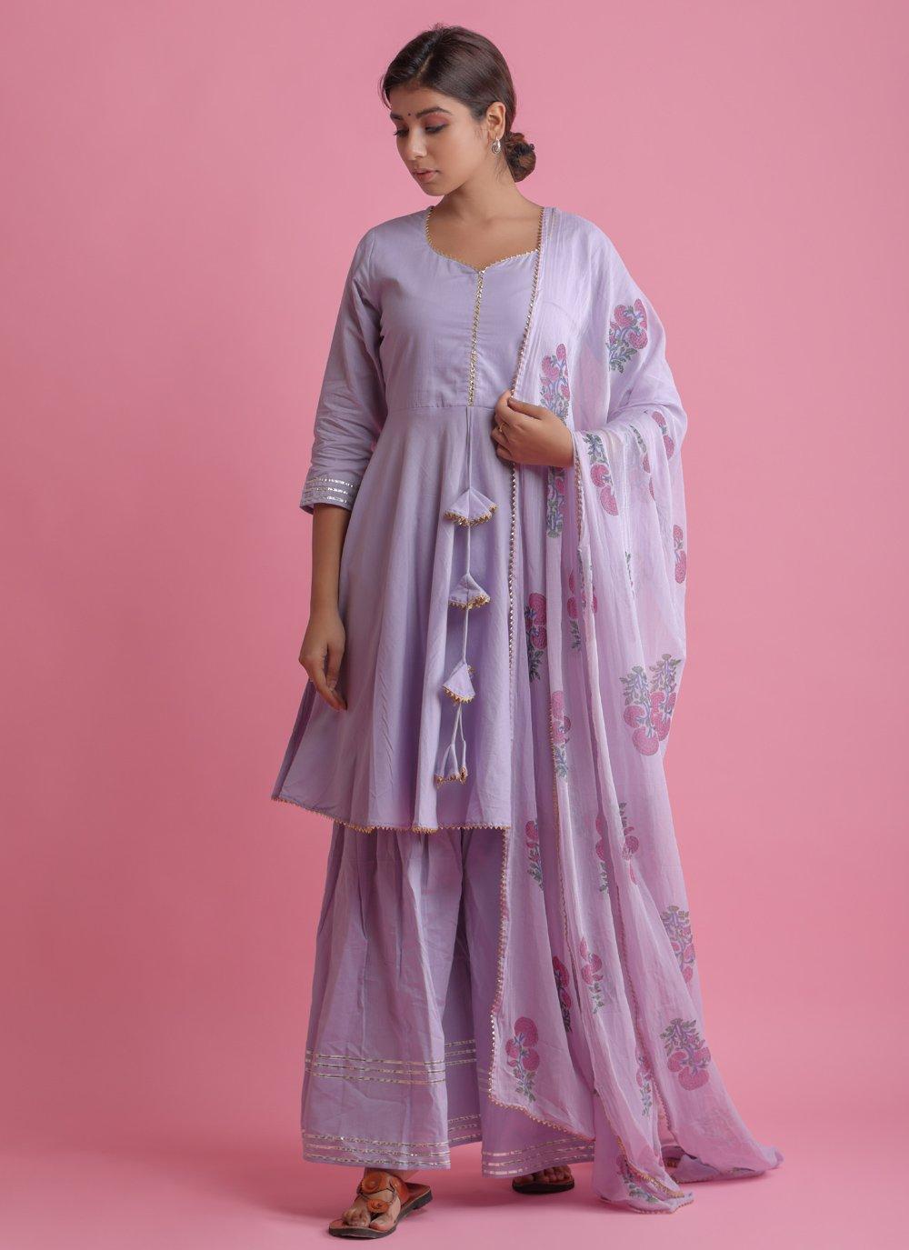 Purple Festival Readymade Suit