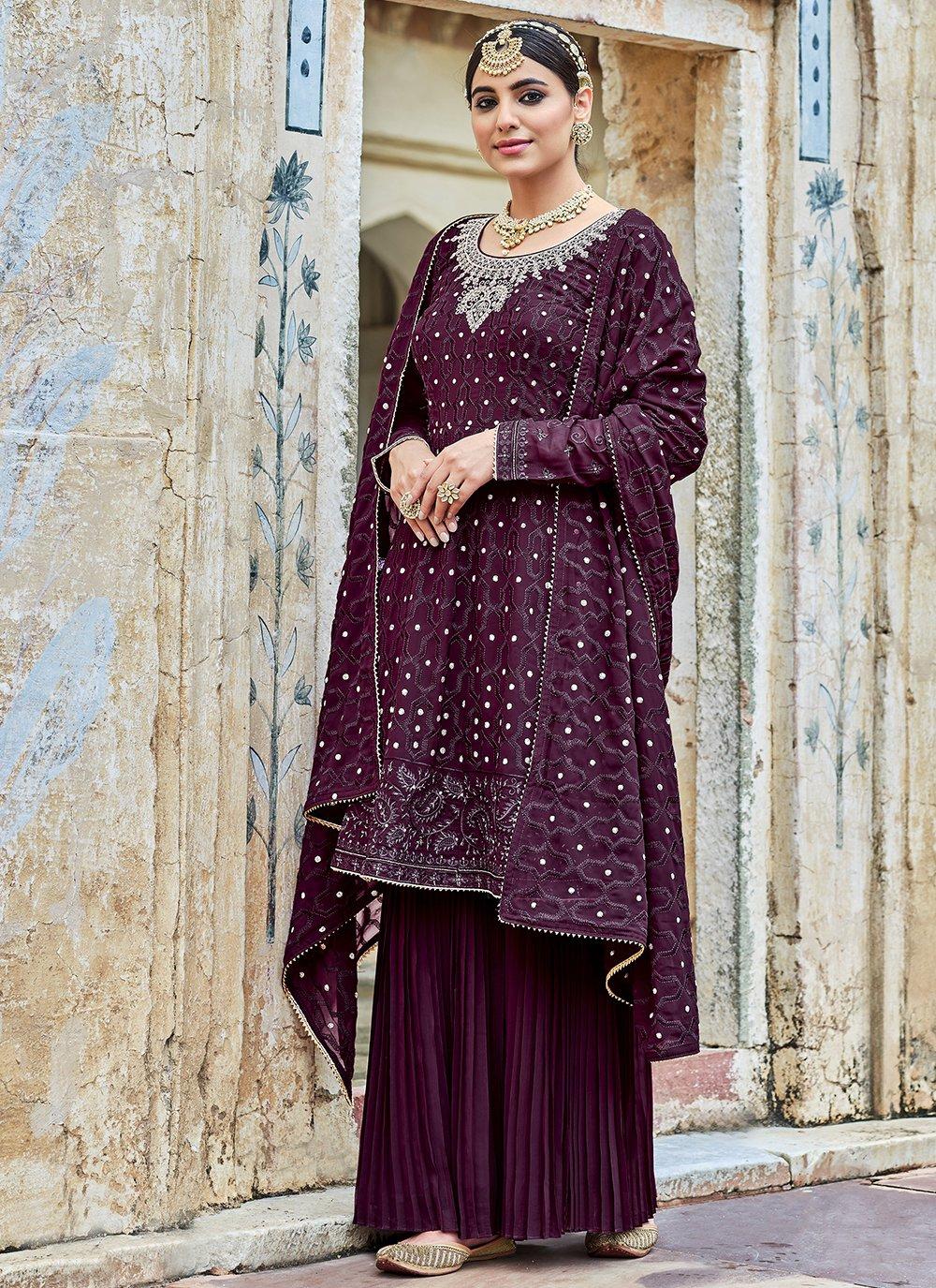 Purple Festival Trendy Salwar Kameez