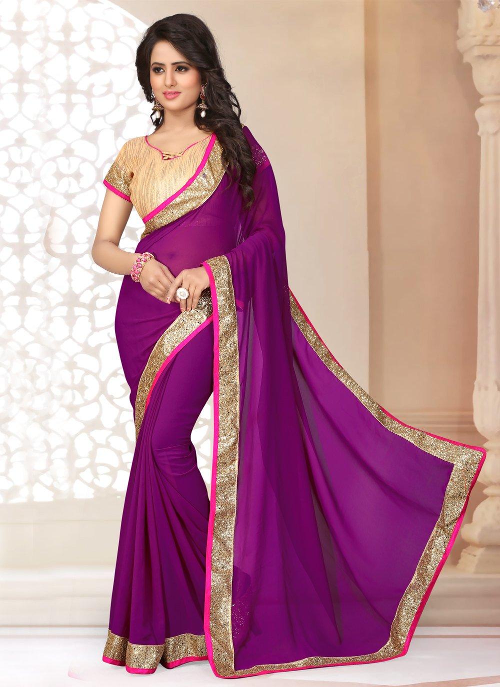 Purple Festival Trendy Saree