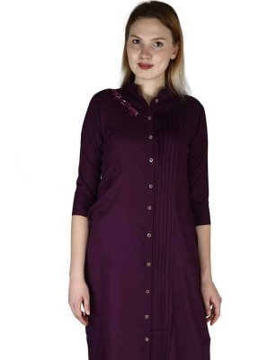 Purple Rayon Party Wear Kurti