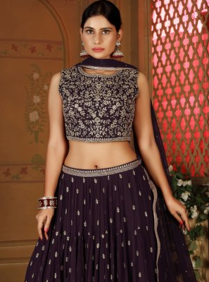 Purple Readymade Lehenga Choli