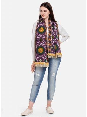 Purple Sangeet Cotton Designer Dupatta