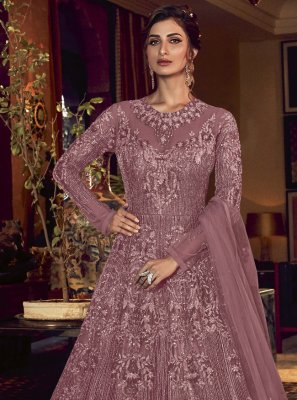 Purple Sangeet Floor Length Anarkali Salwar Suit