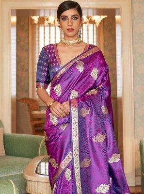 Purple Sangeet Trendy Saree