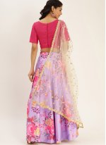 Purple Satin Silk Bollywood Lehenga Choli