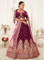 Purple Sequins Trendy Lehenga Choli