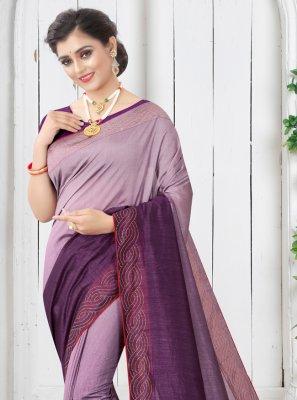 Purple Shaded Saree