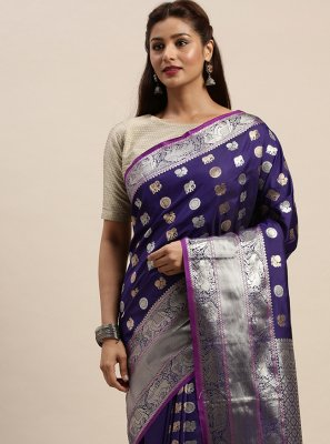 Purple Silk Festival Designer Traditional Saree