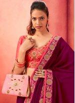 Purple Silk Party Classic Saree