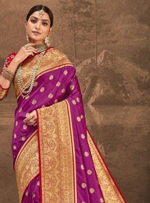 Purple Traditional Designer Saree