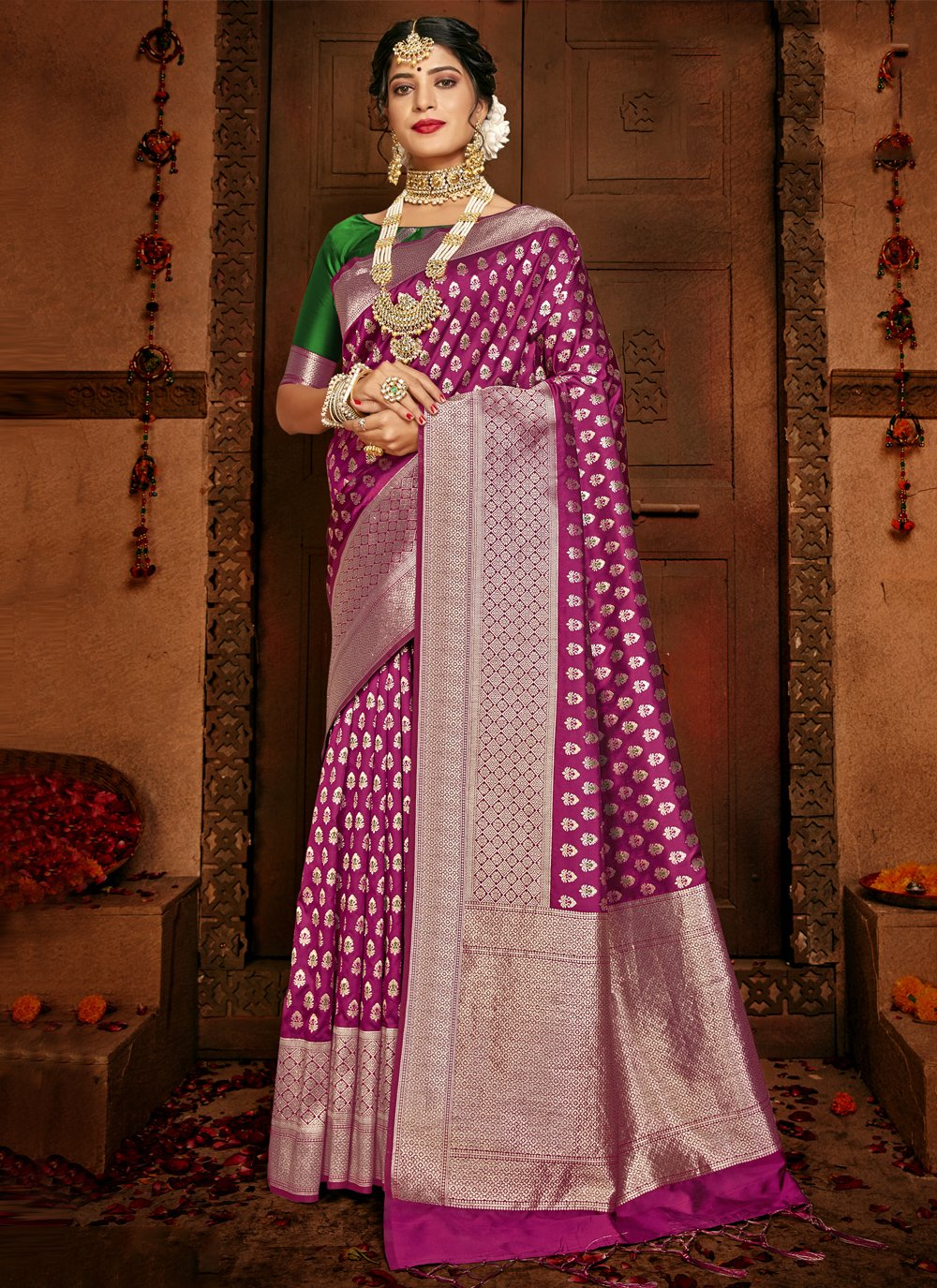 Purple Traditional Saree