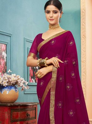Purple Trendy Saree