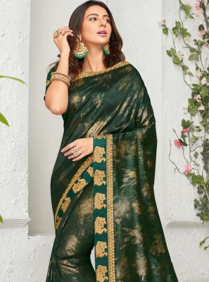 Rakul Preet Singh Green Ceremonial Trendy Saree