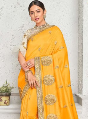 Rakul Preet Singh Yellow Art Silk Contemporary Saree
