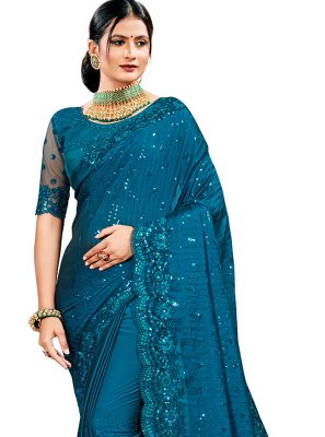Rama Color Designer Saree