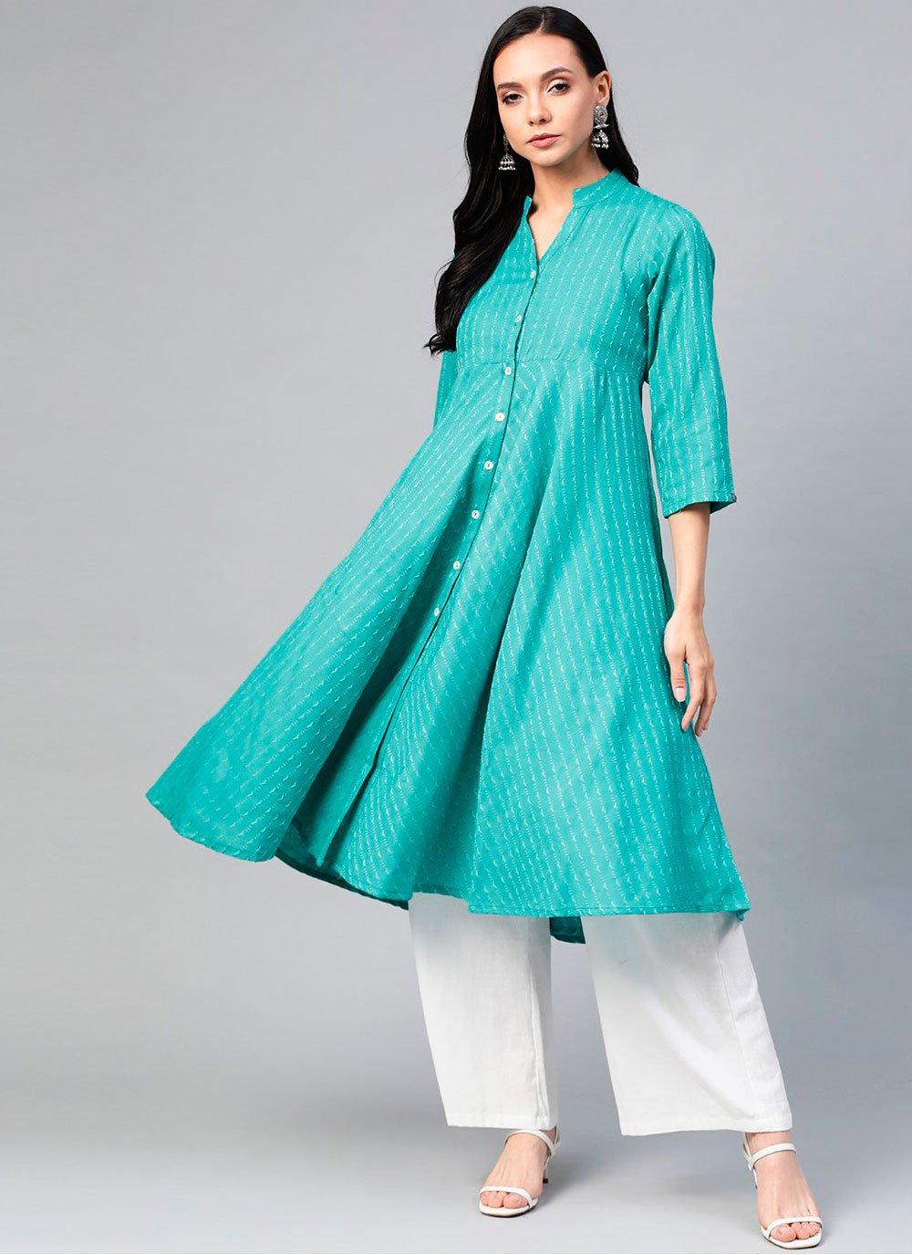 Rama Cotton Party Wear Kurti